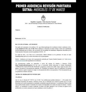 Convocatoria primera audiencia de revisión paritaria