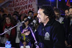 Acto de los sindicatos antiburocráticos en el Ministerio de Trabajo