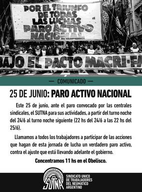 #25J PARO ACTIVO NACIONAL