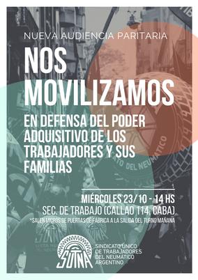 PARITARIAS: Movilización a la Secretaría de Trabajo