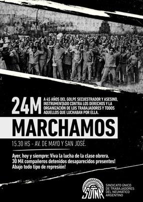 24 de Marzo: MARCHAMOS