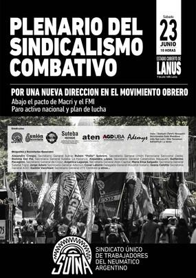 PLENARIO DEL SINDICALISMO COMBATIVO