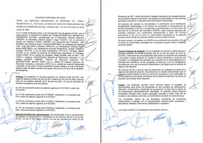Acuerdo salarial paritarias 2021/2022