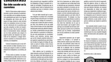 CORONAVIRUS: Qué debe suceder en la cuarentena
