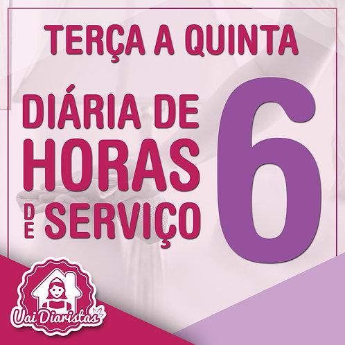 Pacote de 6 horas de Serviço - 3º Feira a 5º Feira