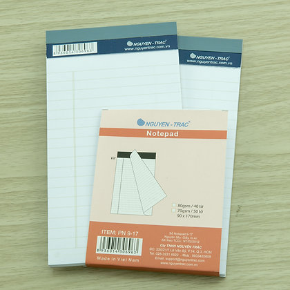 nguyen trac, hobby shop, accessories, notepad, 7x19