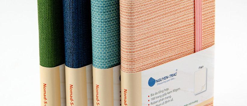 notebook, nguyen trac, stylish, beige paper,