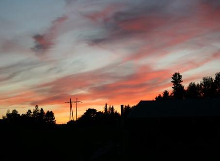 Solnedgang i kveld
