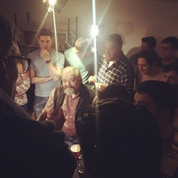How many people can we fit in a tiny ass basement_ #deadgiveaway2017 #behindthescenes #day8 #shitgot