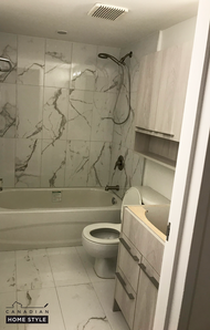 Custom Vanity and Tiling done by Canadian Home Style