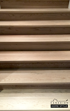 Hardwood Flooring project on stairs with Custom nosing