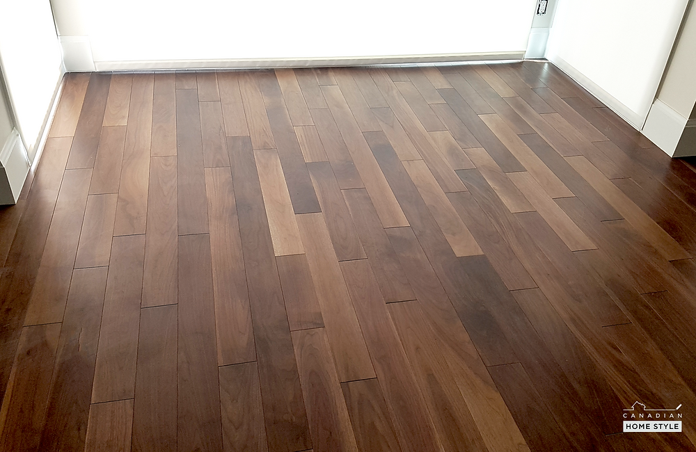 Completed hardwood flooring project by Canadian Home Style in West Vancouver, BC