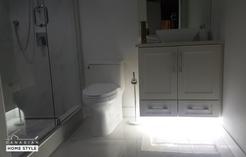 Custom Shower and Custome Bathroom with Cabico Vanity