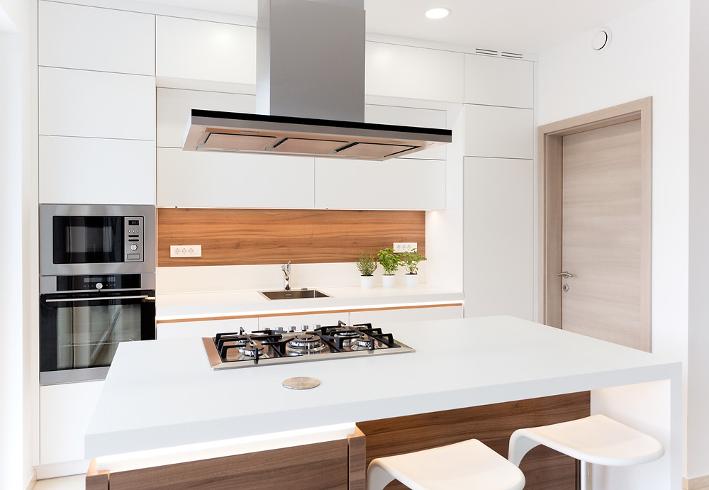 Vancouver kitchen renovation - Use white and walnut combo for your next kitchen design! Canadian Home style is your official dealer of Cabico custom cabinetry in the Lower Mainland and we can help you with your kitchen remodeling project from start to finish.