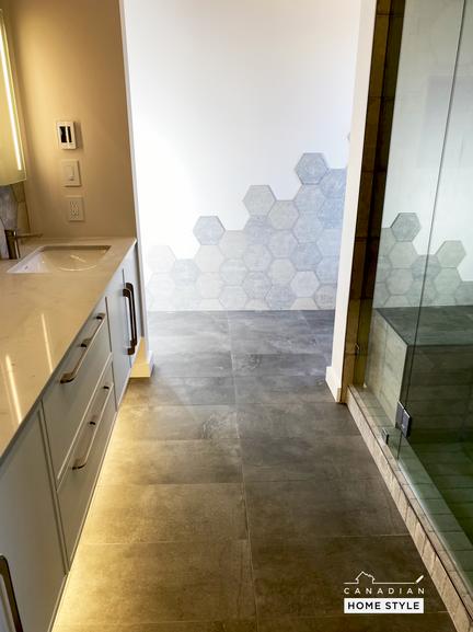 Custom Bathroom vanity and Tiling