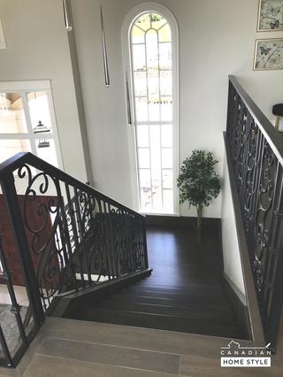 Hardwood Flooring done on Stairs
