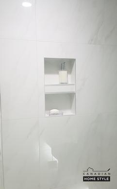 Custom Inserted Shower Niche