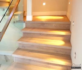 "Engineered Hardwood - Staple down with Spot Gluing Installation - 7.5"" Planks"