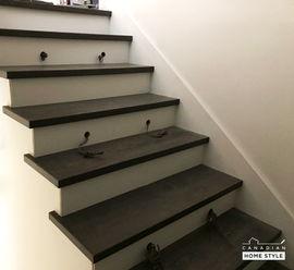 Hardwood Stairs with MDF risers