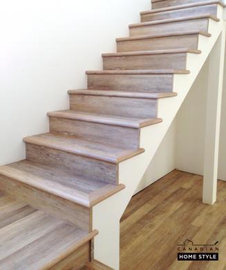 Luxury Vinyl on Stairs - Everwood Premier