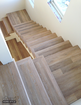 Hybrid Luxury Vinyl Flooring on Stairs