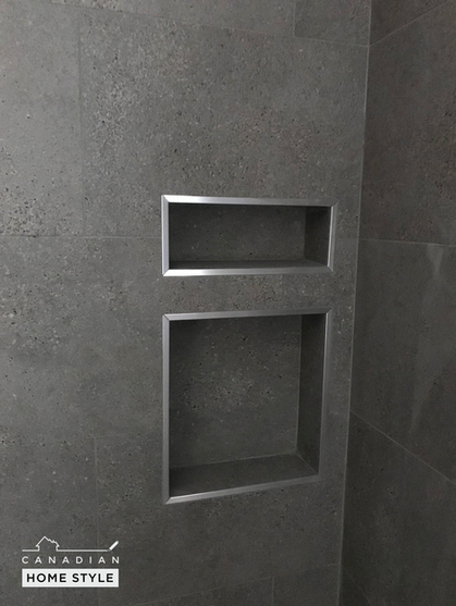 Custom Inserted shower Niche