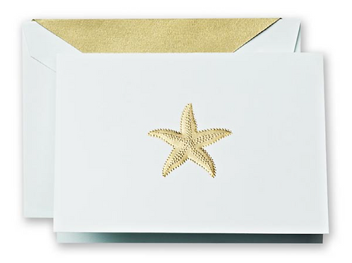 Crane Engraved Starfish Note Cards