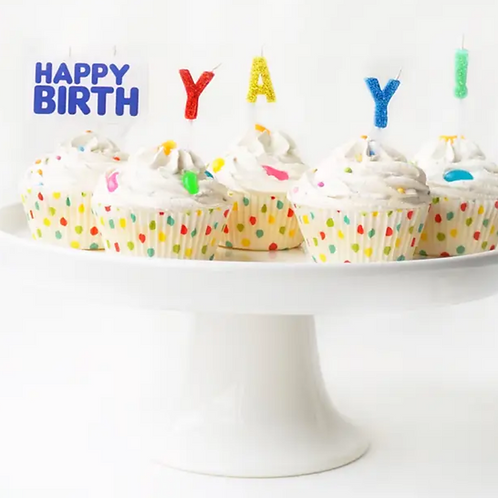 Happy BirthYAY Candles