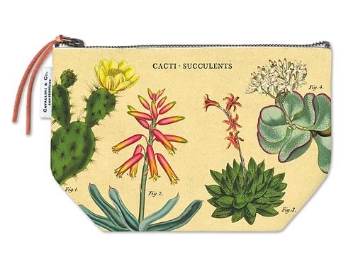 Vintage Succulents Pouch