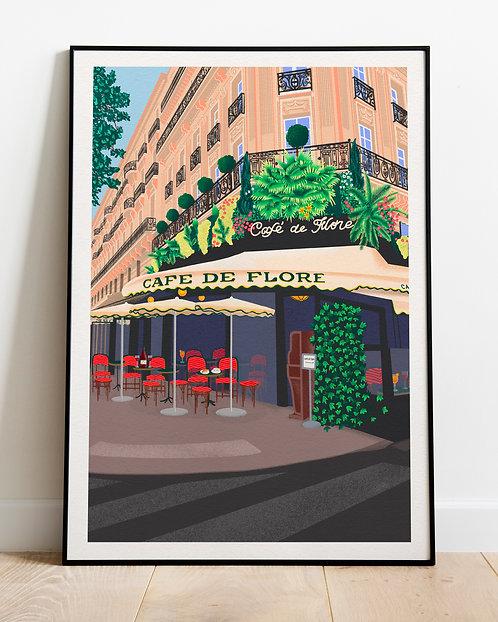 'Café de Flore' print