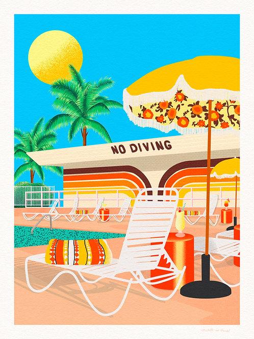 "'The Dive Motel' 18 x 24"" print"