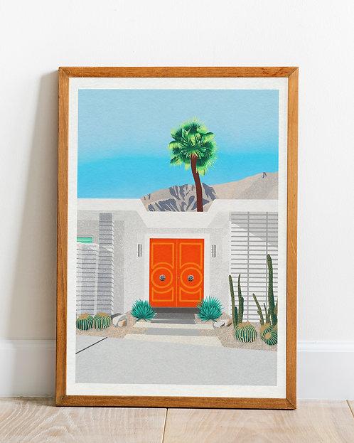 'Palm Springs Door 2' print