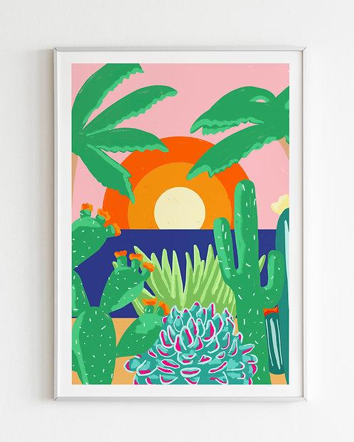 'Ibiza Sunsets' print 3