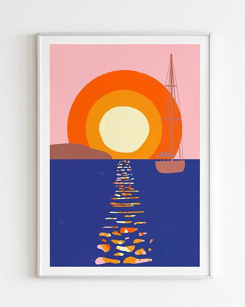 'Ibiza Sunsets' print 1