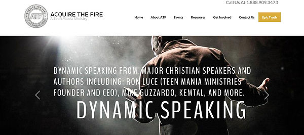 Teen Mania Ministries Acquire The Fire Web Page