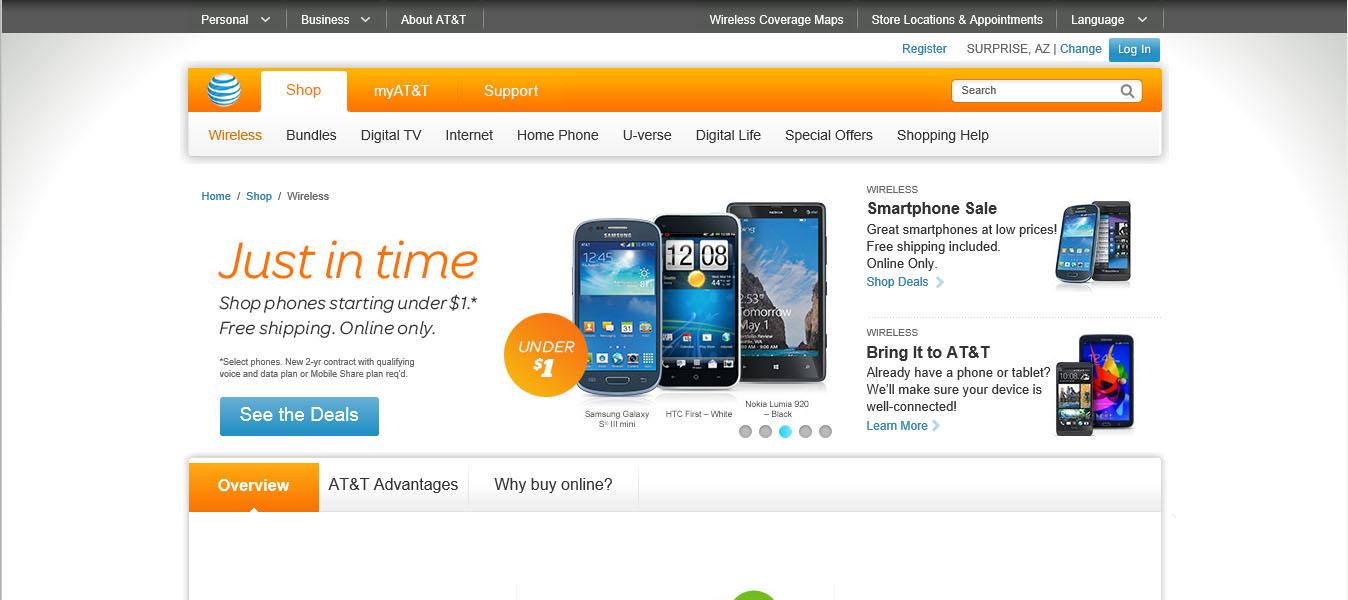 AT&T Wireless Responsive Web Design
