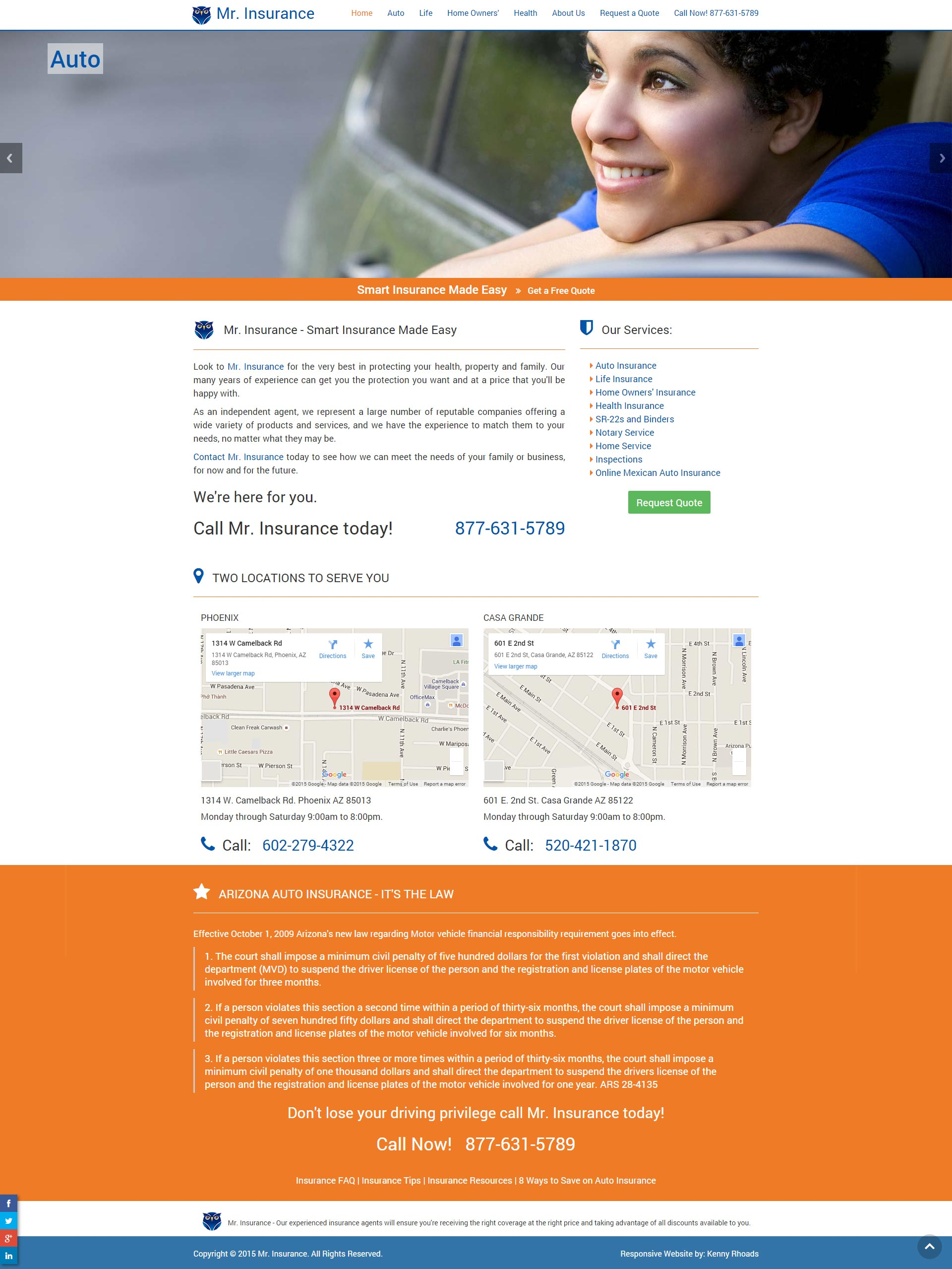 NEW SITE for Mr. Insurance
