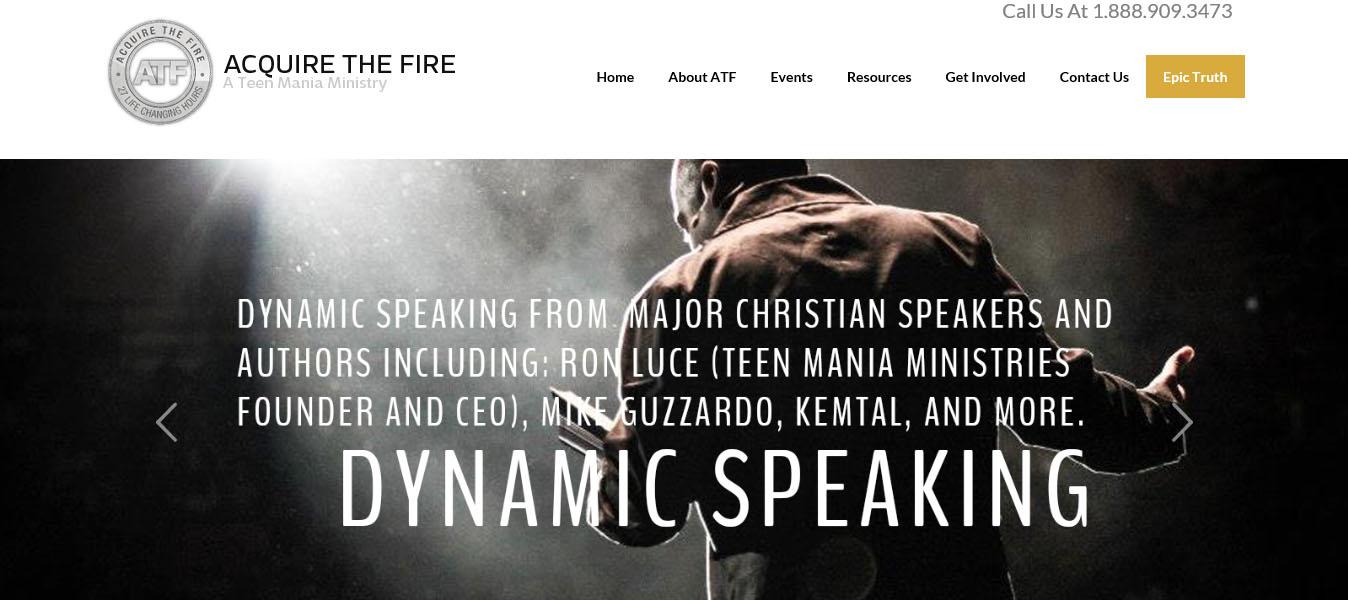 Acquire The Fire Web Design