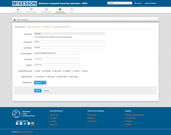 McKesson MIRA Preferences