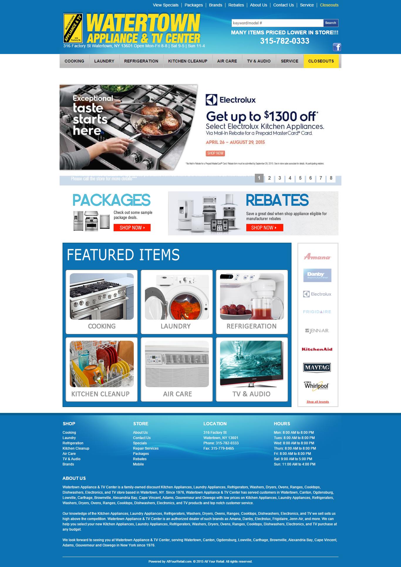 Watertown Appliance e_Commerce Site
