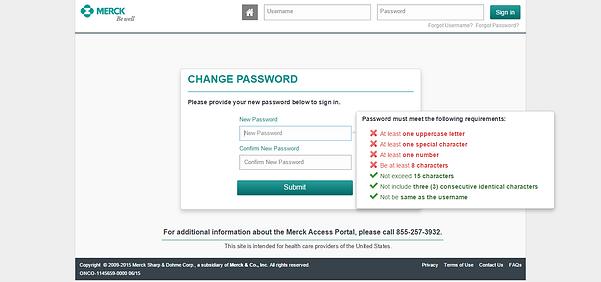 Merck Forgot Password