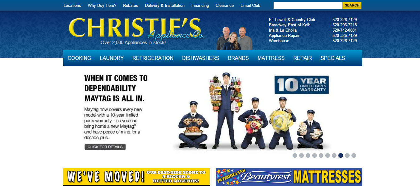 Christie's Appliance e-Commerce