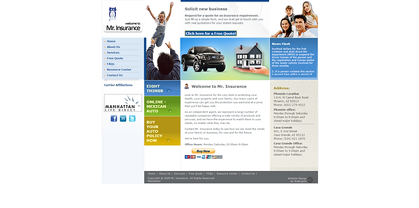 Mr Insurance Old Website