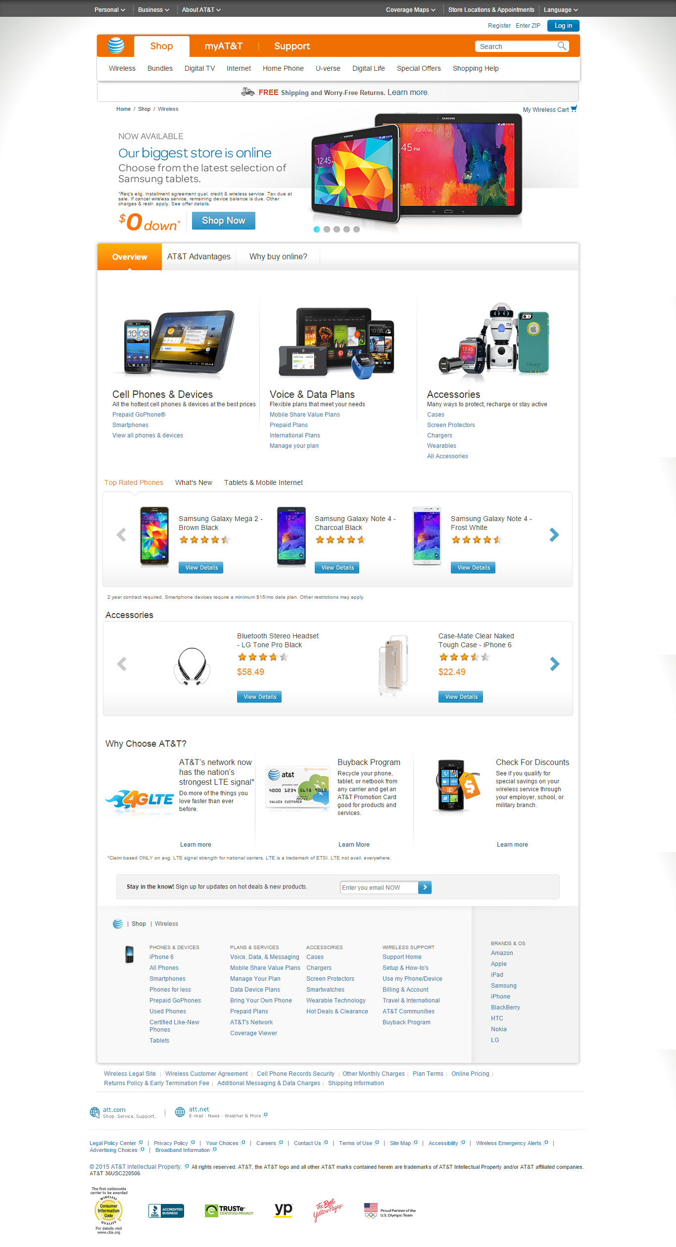 AT&T Wireless Responsive Shop