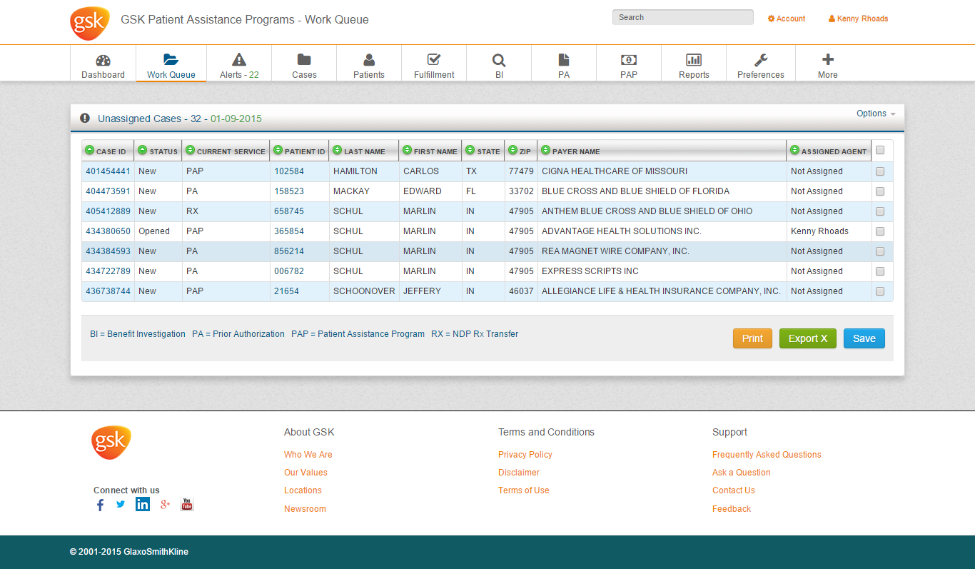 GSK Cases Page