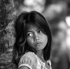 Portrait eines kambodschanischen Mädchens - Fotografin Runa Lindberg