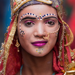 Portrait einer Inderin - Fotografin Runa Lindberg