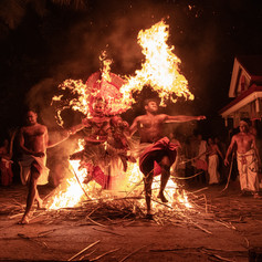 Fire Theyyam Festival in Kera