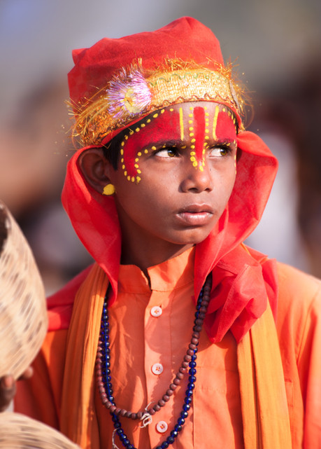 Portrait of a young snake charmer