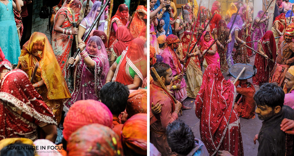 Lathmar Holi Nandgoan, Best Holi Photography Guide 2020 India. www.adventure-in-focus.com Picture by Runa Lindberg